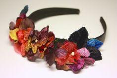 Floral headband. Vintage flower headband. Vintage by SheSellsHeart
