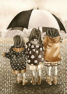 Rainy Day  5x7 archival watercolor print by by TracyLizotteStudios, $12.00