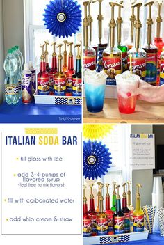 Have Italian Sodas for a self serve Italian Soda Bar at your next party! details at TidyMom.net