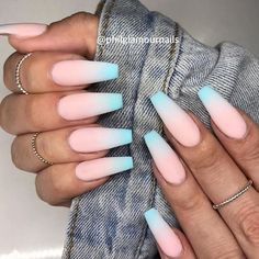 32 Extraordinary White Acrylic Nail Designs to Finish Your Trendy Look - Polish . - 32 Extraordinary White Acrylic Nail Designs to Finish Your Trendy Look – Polish … – - Cute Acrylic Nail Designs, Best Acrylic Nails, Summer Acrylic Nails, Summer Nails, Acrylic Nails With Design, Unique Nail Designs, Acrylic Nails Coffin Ombre, Matte Stiletto Nails, Blue Ombre Nails