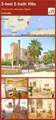 3-bed 2-bath Villa in Villamartin, Alicante, Spain ►€125,000 #PropertyForSaleInSpain