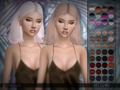 Sims 4 CC's - The Best: LeahLillith Kei Hair