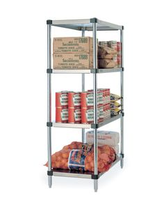 HD Super Solid stainless steel shelving offers maximum weight capacity of 1000 lbs. per shelf, evenly distributed and excellent corrosion resistance. Ideal for heavy duty performance. Stainless Steel Shelving, Stainless Kitchen, Kitchen Appliances, Metro Shelving, Wire Shelving, Commercial Shelving, Shelving Systems, Room Shelves