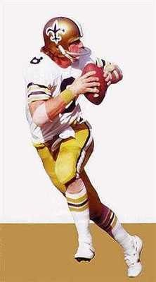 New Orleans Saints Archie Manning Rare Art by AmericanAllStar, $19.99