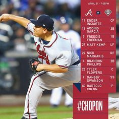 #BigSexy on the mound in Philly at 7:05! #ChopOn