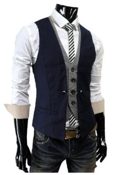 TheLees Mens premium layered style slim vest waist coat #TheLees #Mens