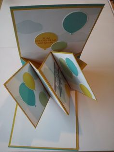 Popup panel card - Willkommen bei Stampin Fee