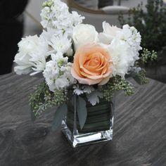 outdoor wedding floral centerpiece