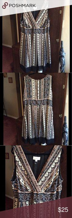 "Flattering Midi Dress Flattering Midi Dress, Lined with sheer bottom trim, Length is 49"" shoulder to bottom hem. STUDIO I Dresses Midi"