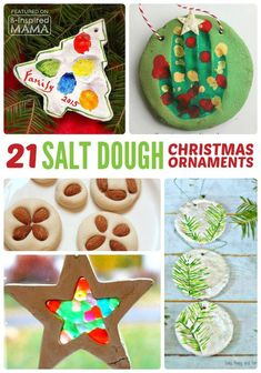 21 Kids Homemade Christmas Ornaments - Using Salt Dough - Perfect Crafts for DIY Gifts!