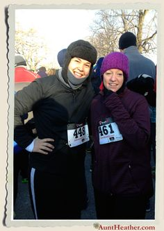 Me & Holsters at the Latrobe Turkey Trot Race. It was a cold one! 11/28/13 #AuntHeather