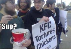 A meeting was held to discuss KFCs' finger licken chicken