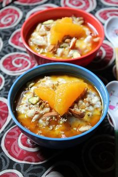 YUMMY TUMMY: Creamy Oats Porridge with Nuts & Orange Sauce - Healthy Way to Start a Day