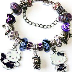#Kitty Bracelet by onlybiju on Etsy #purple #violet