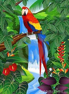Tropical bird in the beautiful background by Dagadu, via Dreamstime