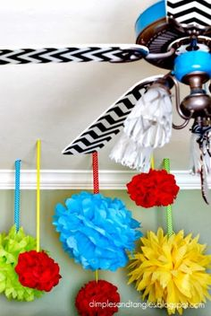 How to revamp plain, boring ceiling fans using modge modge, paint and fabrics: Dimples and Tangles: Sassy Ceiling Fans