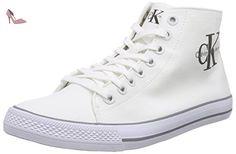 Calvin Klein Jeans Zabrina Metallic Jacquard, Baskets Femme, Argent (Light Silver), 40 EU
