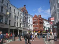 Grafton Street is one of the two principal shopping streets in Dublin city centre, the other being Henry Street. It runs from Saint Stephen's Green in the south to College Green in the north.