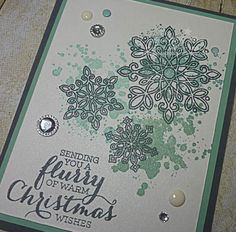 Stampin Up Flurry of Wishes Card Close
