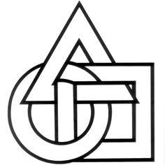 triangle, circle, square