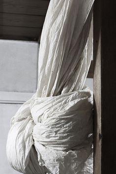 Paper curtains in Chiaki Morita's washi studio