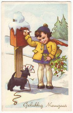 Vintage Belgian postcard