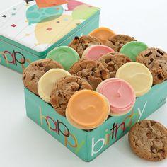 NEW! Happy Birthday Tin - 16 Cookies Create Your Own   Birthday Gift Ideas   Cheryls.com