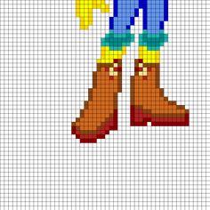 Equestrial Girls Apple Bloom Part2 Perler Bead Pattern / Bead Sprite