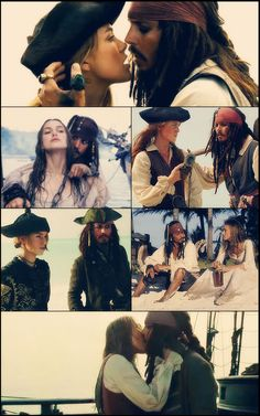 Jack and Elizabeth, Pirates of the Caribbean Elizabeth Swann, Jack And Elizabeth, Captian Jack Sparrow, On Stranger Tides, I Love Cinema, Rory Williams, Davy Jones, Pirate Life, Keira Knightley