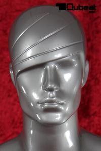 #Schaufensterpuppe #Mannequin #Gesicht #silber #stehend #männlich