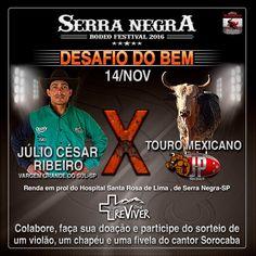 Serra Negra Rodeo Festival terá Desafio do Bem em prol do Hospital Santa Rosa de Lima. A 28ª edição do Serra Negra Rodeo Festival, que vai acontecer...