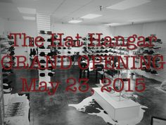 Don't forget The Hat Hangar's grand opening! There will be raffle prices, food, games, tours of the facility, and 50% off the ENTIRE store! #AmericanHatMakers