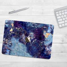 Dark Blue Marble Case Macbook Air 11 Air 13 Hard by casesfactory