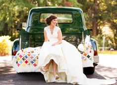 vintage green getaway truck | Candace Nelson Photography