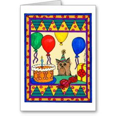 Celebrate someone's day of birth with Cocker birthday cards & greeting cards from Zazzle! Perfect for friends & family to wish them a happy birthday on their special day. Happy Birthday Greeting Card, Birthday Cards, Schnauzer Art, Custom Greeting Cards, Thoughtful Gifts, Fur Babies, Dogs And Puppies, Prints, Yorkies