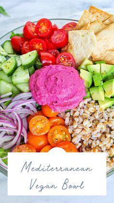 Entree Recipes, New Recipes, Vegan Recipes, Healthy Meals, Healthy Food, Beet Hummus, Vegan Meal Prep, Hummus Recipe, Food Bowl
