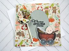 Baby Shower Card Baby gift Newborn baby card May all your