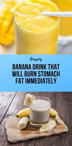 Banana Drink That Will Burn Stomach Fat Immediately - Healthy Diet Tips Health And Fitness Expo, Health And Wellness Coach, Health And Fitness Articles, Fitness Diet, Fitness App, Wellness Fitness, Healthy Diet Tips, Healthy Detox, Healthy Meal Prep