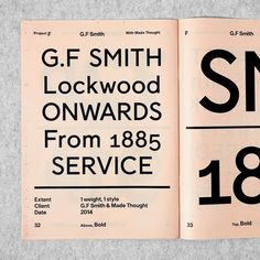Bespoke Catalogue 1, showing our work for @gfsmithpapers — it includes 6 projects in total. You can pick it up with the newly released Bespoke Catalogue 2 now.