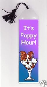 papillon dog bookmark
