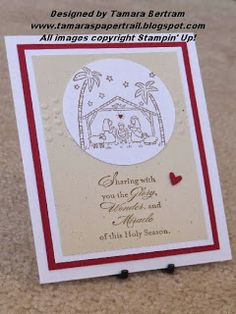 Handmade Christmas Card; Best of Christmas; Religious Handmade Card; Stampin' Up!; Tamara's Paper Trail