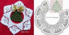 Thread Crochet, Crochet Doilies, Christmas Decorations, Holiday Decor, Table Runners, Crochet Earrings, Xmas, Baby, Yule
