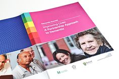 NHS -Healthcare Annual Report design Graphic Design Inspiration, Design Ideas, Mental Health, Health Care, Annual Report Design, Dementia, Brochure Design, Cube, Branding