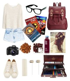 """""""Untitled #173"""" by moonlightpanda1 ❤ liked on Polyvore featuring MANGO, Play Comme des Garçons, Rampage, Eos and Beats by Dr. Dre"""