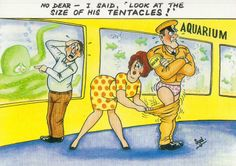 B5921APS Humour Look at The Size of His Tentacles Postcard | eBay