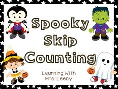 Here's a set of Halloween themed skip counting puzzles and worksheets.