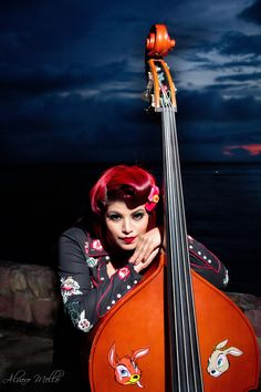 rockabilly bass / rockabilly girl / me /