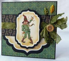 Scraps of Life: The Magic of Oz - Card Bonanza! Halloween Cards, Fall Halloween, Halloween Decorations, Scrapbook Journal, Scrapbook Cards, Journal Fonts, Journaling, Scrapbook Paper Crafts, Paper Crafting