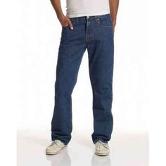 George Big Men/'s Relaxed Fit Denim Blue Jeans Light /& Medium Stonewash Black