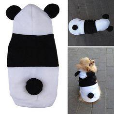 Cute Fleece Panda Clothes Warm Coat Costume Outwear Apparel for Pet Dog Cat